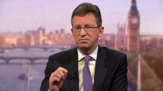 jeremy wright saying he admires the passion of the striking schoolchildren over climate change but that education is also important - media interview stock videos & royalty-free footage