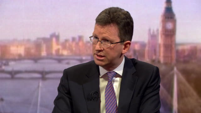 jeremy wright saying the bbc needs to honour its concession to over75's and the license fee - editorial bildbanksvideor och videomaterial från bakom kulisserna