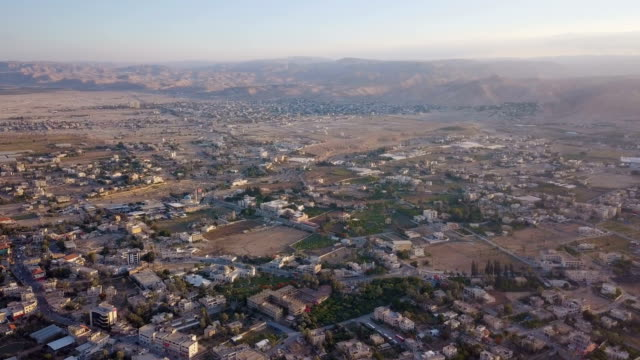 jericho and its vicinity suburbs/ aerial - palestine liberation organisation stock videos & royalty-free footage