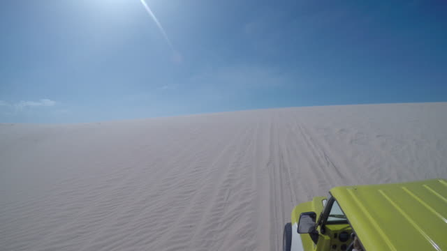 jericoacoara beach, ceara, brazil. - dune buggy stock videos and b-roll footage