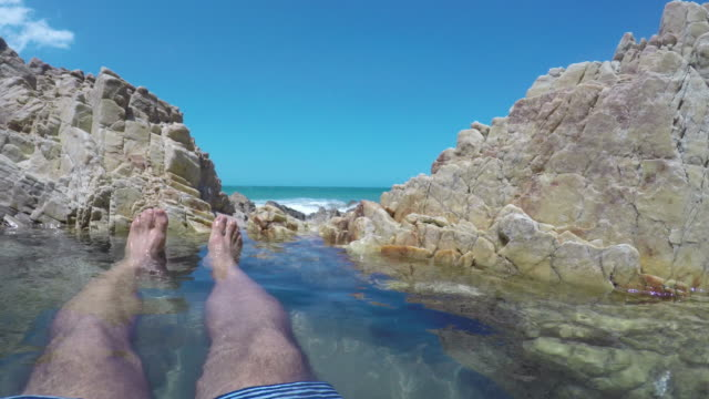 jericoacoara beach, ceara, brazil. - floating on water stock videos & royalty-free footage