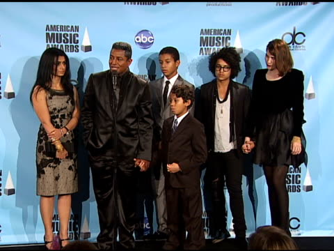 jermaine jackson and family on getting strength from family what it means to have michael jackson's music honored what kind of message it sends to... - michael jackson stock videos and b-roll footage