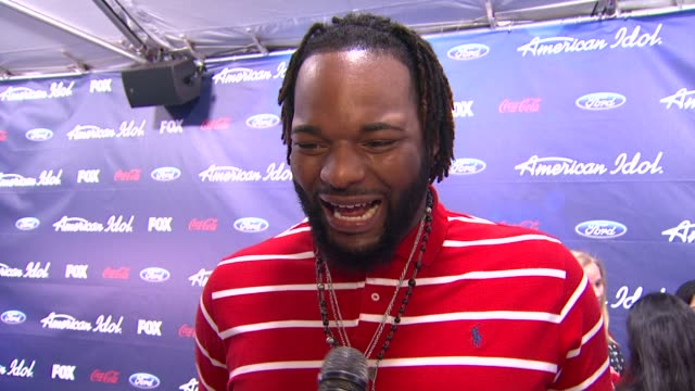 jermaine jones on how it feels to be out here tonight at meet the american idol judges finalists on 3/1/2012 in los angeles ca - american idol stock videos and b-roll footage