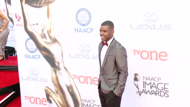 stockvideo's en b-roll-footage met jermelle simon at the 46th annual naacp image awards - arrivals at pasadena civic auditorium on february 06, 2015 in pasadena, california. - pasadena civic auditorium