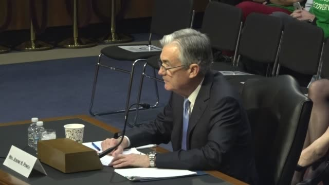jerome powell reads prepared remarks at a hearing with the senate banking committee on his nomination to become chairman of the federal reserve board... - chairperson stock videos & royalty-free footage