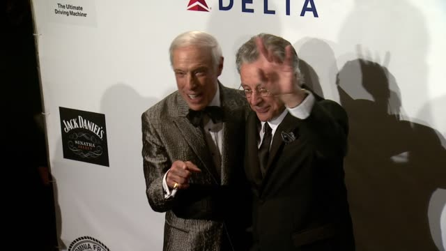 jerry blavat and frankie valli at friars foundation gala honoring robert de niro and carlos slim at the waldorf=astoria on october 07 2014 in new... - waldorf astoria new york stock videos & royalty-free footage