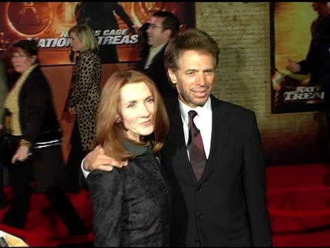 Jerry Bruckheimer and his wife Linda at the 'National Treasure' Los Angeles Premiere at Pasadena Civic Auditorium in Pasadena California on November...