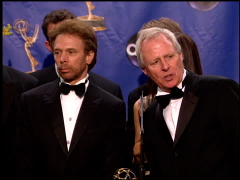 Jerry Bruckheimer at the 2004 Emmy Awards press room at the Shrine Auditorium in Los Angeles California on September 19 2004