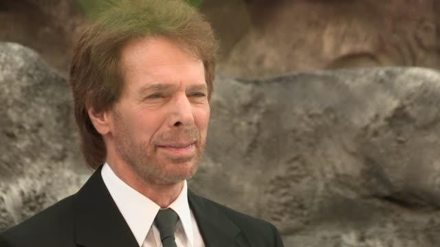 jerry bruckheimer at the lone ranger uk premiere at odeon leicester square on july 21 2013 in london england - the lone ranger 2013 film stock videos and b-roll footage