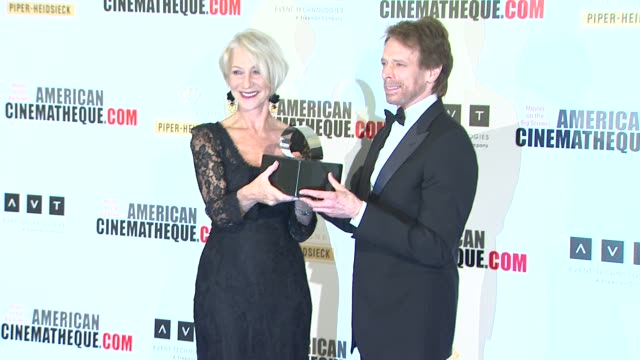 jerry bruckheimer helen mirren at american cinematheque's 27th annual award presentation honoring jerry bruckheimer in beverly hills ca on - american cinematheque stock videos & royalty-free footage