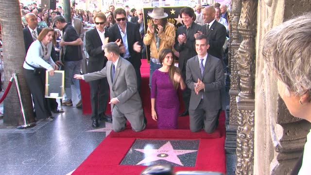 Jerry Bruckheimer Javier Bardem Johnny Depp Penelope Cruz and Rob Marshall at the Penelope Cruz Honored With A Star On The Hollywood Walk Of Fame at...
