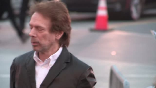 Jerry Bruckheimer Linda Bruckheimer arrive at the Transcendence Premiere in Westwood Celebrity Sightings in Los Angeles on April 10 2014 in Los...