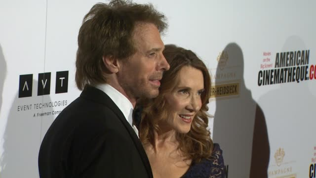 jerry bruckheimer linda bruckheimer at american cinematheque's 27th annual award presentation honoring jerry bruckheimer in beverly hills ca on - american cinematheque stock videos & royalty-free footage