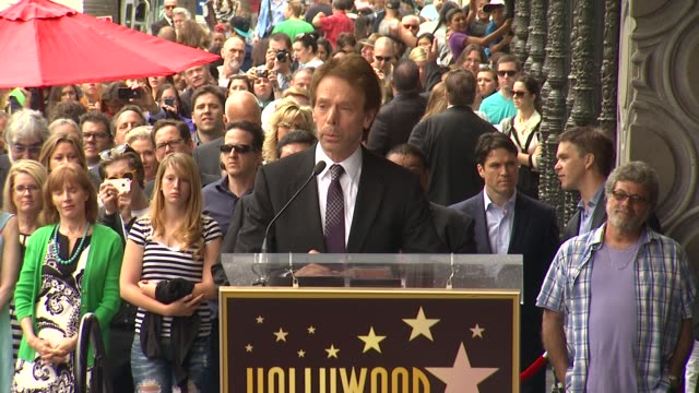 SPEECH Jerry Bruckheimer on his many years working in Hollywood at Jerry Bruckheimer Honored with Star on the Hollywood Walk of Fame in Hollywood CA...