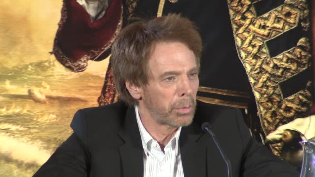 Jerry Bruckheimer on POTC 5 depending on reactions to POTC 4 at the Pirates of the Caribbean On Stranger Tides Press Conference at London England