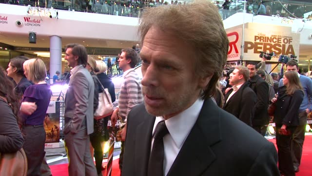 Jerry Bruckheimer on the movie being compared to Pirates of the Caribbea at the Prince of Persia Premiere UK at London England