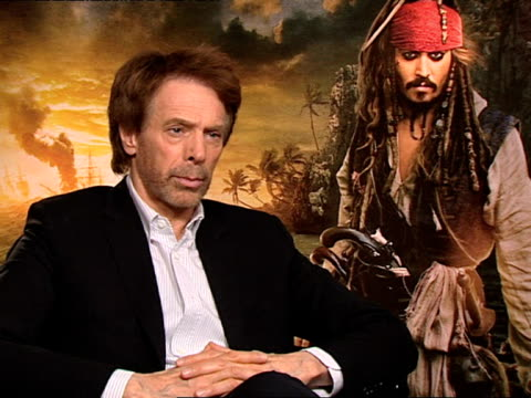 Jerry Bruckheimer on working with amazing actors writers directors and more at the Pirates of the Caribbean On Stranger Tides junkets at London...