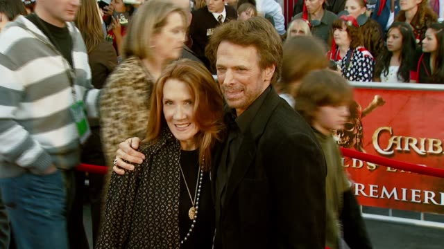Jerry Bruckheimer producer and wife Linda at the 'Pirates of the Caribbean At World's End' World Premiere at Disneyland in Anaheim California on May...