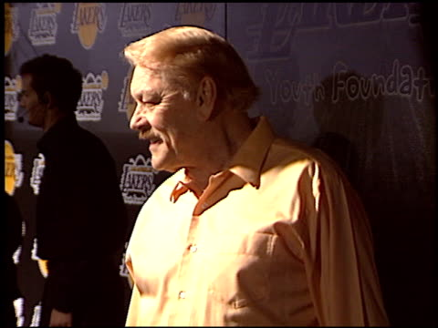 Jerry Buss at the Los Angeles Lakers Youth Foundation at Barker Hanger in Santa Monica California on April 8 2004