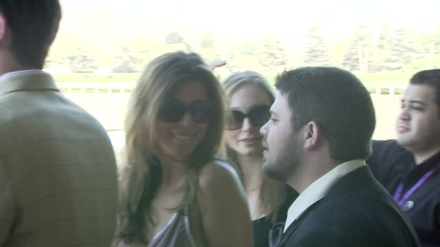 jerry ferrara and jamie-lynn sigler at the breeders' cup world thoroughbred championships day two at los angeles ca. - jamie lynn sigler stock videos & royalty-free footage