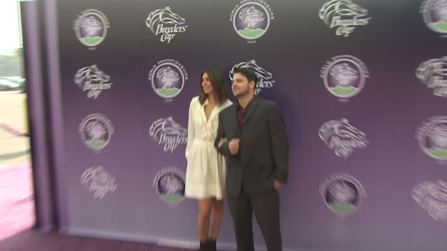 jerry ferrara jamie lynnsigler at the breeders' cup world thoroughbred championships at arcadia ca - championships stock videos & royalty-free footage