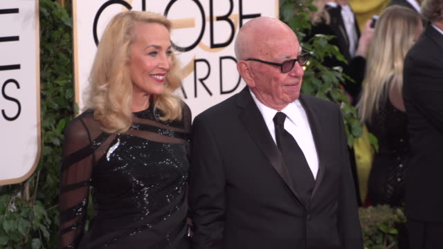 Jerry Hall and Rupert Murdoch at the 73rd Annual Golden Globe Awards Arrivals at The Beverly Hilton Hotel on January 10 2016 in Beverly Hills...