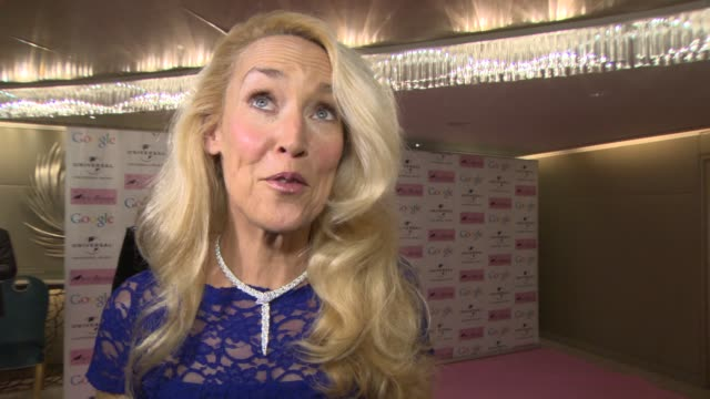 interview jerry hall on the event at amy winehouse foundation ball on november 20 2013 in london england - 舞踏会点の映像素材/bロール