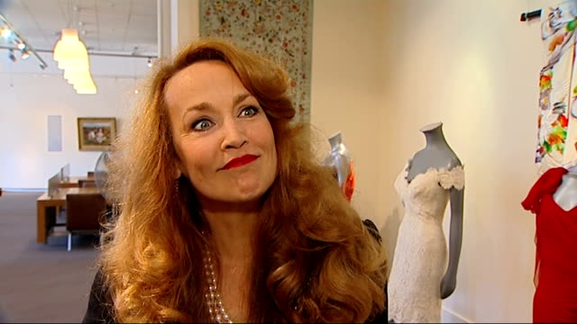 jerry hall to auction wedding dress she wore to marry mick jagger; england: london: sotheby's auction house: int jerry hall interview sot - on her... - autobiography stock videos & royalty-free footage