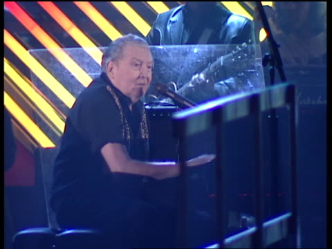 Jerry Lee Lewis rehearsing for the Grammys