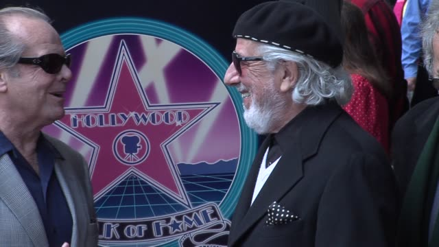 jerry moss, jack nicholson, lou adler, and herb alpert at the lou adler honored with star on the hollywood walk of fame at hollywood boulevard in... - jack nicholson stock videos & royalty-free footage