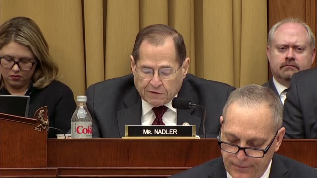 Jerry Nadler tells asks Deputy Attorney General Rod Rosenstein at a hearing of the House Judiciary Committee that a year later Republican colleagues...