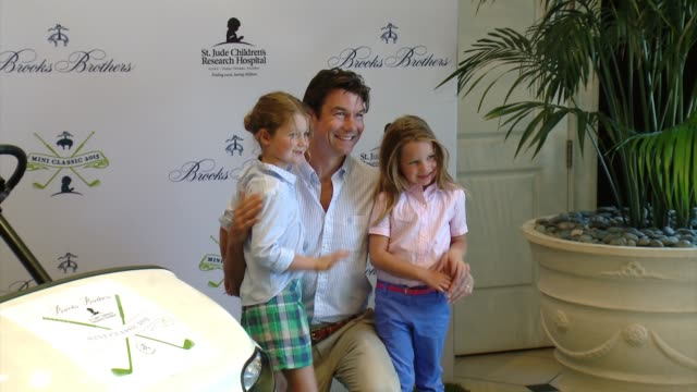 jerry o'connell at brooks brothers hosts mini classic golf tournament to benefit st jude children's research hospital at brooks brothers beverly... - st. jude children's research hospital stock videos and b-roll footage