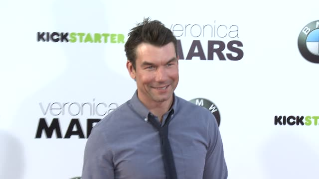 jerry o'connell at veronica mars los angeles premiere at tcl chinese theatre on march 12 2014 in hollywood california - mann theaters stock videos & royalty-free footage