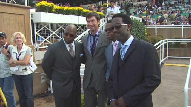 jerry o'connell , boys ii men at the breeders' cup world thoroughbred championships at arcadia ca. - world war ii stock-videos und b-roll-filmmaterial