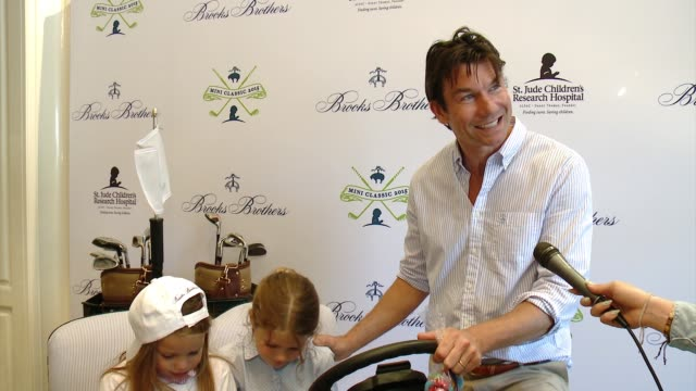 interview jerry o'connell on why he wanted to support brooks brothers st judes at brooks brothers hosts mini classic golf tournament to benefit st... - st. jude children's research hospital stock videos and b-roll footage
