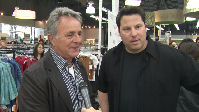 jerry politzer and greg grunberg on loehmann's sponsorship of the event at the grand opening celebration of loehmann's costa mesa featuring band from... - costa mesa stock videos & royalty-free footage