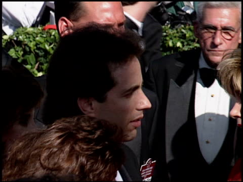 jerry seinfeld at the 1994 emmy awards at the pasadena civic auditorium in pasadena california on september 11 1994 - pasadena civic auditorium stock videos & royalty-free footage