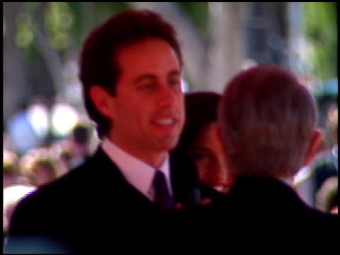 jerry seinfeld at the 1996 emmy awards arrivals at the pasadena civic auditorium in pasadena california on september 8 1996 - pasadena civic auditorium stock videos & royalty-free footage