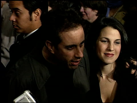 jerry seinfeld at the 'down to earth' premiere at grauman's chinese theatre in hollywood california on february 12 2001 - mann theaters stock-videos und b-roll-filmmaterial
