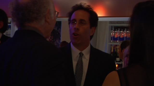 jerry seinfeld at the inside the vanity fair oscar party 2010 at west hollywood ca - oscar party stock videos & royalty-free footage