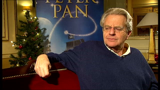 jerry springer to appear in peter pan pantomime: springer interview; england: london: wimbledon: new wimbledon theatre: int jerry springer interview... - highgate stock videos & royalty-free footage