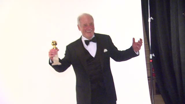 Jerry Weintraub at 71st Annual Golden Globe Awards Backstage at The Beverly Hilton Hotel on in Beverly Hills California