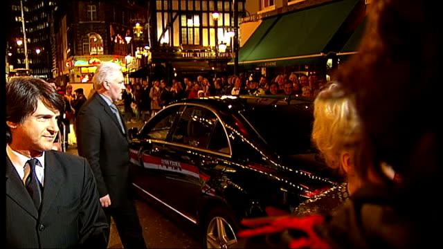 'jersey boys' musical opens in london celebrity arrivals **shaky people milling around outside entrance to theatre actress barbara windsor arriving... - anita dobson stock videos & royalty-free footage