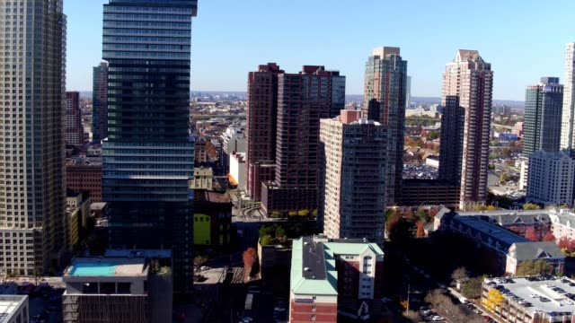 jersey city buildings - nj ny nyc skyline - ジャージーシティ点の映像素材/bロール
