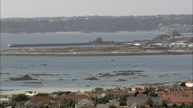 Jersey coast - Aerial View - helicopter filming,  aerial video,  cineflex,  establishing shot,  Jersey
