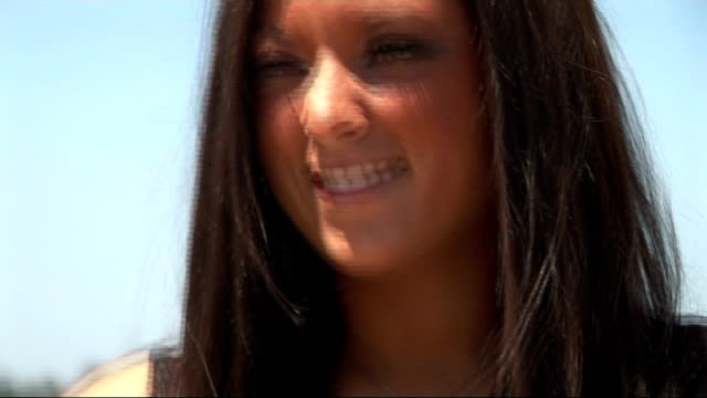 'jersey shore' cast interviewed in florence sammi giancola and deena cortese interview sot city is gorgeous / on touring the city / walk so much that... - cast member stock videos & royalty-free footage