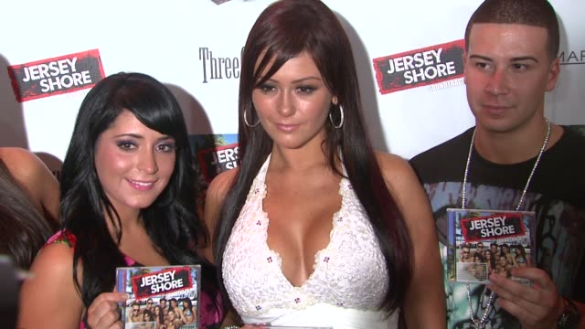 'jersey shore' soundtrack release party new york ny united states - reality fernsehen stock-videos und b-roll-filmmaterial
