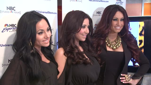 'jerseylicious' cast meet greet on 3/7/2012 in new york ny united states - tracy dimarco stock videos and b-roll footage