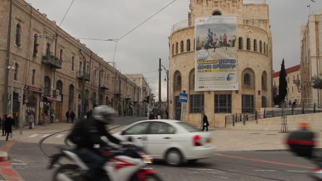 vidéos et rushes de jerusalem 7 - ligne de tramway
