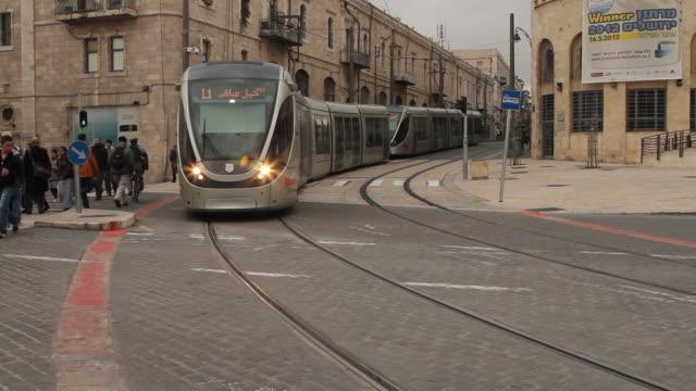 vidéos et rushes de jerusalem 8 - ligne de tramway